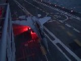 MiG-29KUB Night Take-off From Indian Aircraft Carrier
