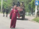Mariupol Priest Rules Out Of The City Tanks Of Ukrainian Fascists Forces