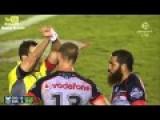 NRL Konrad Hurrell Raised Knee Breaks Anthony Tupou's Jaw