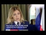 Natalia Poklonskaya Crimean Prosecutie Uncover Kiev Bankster Plot To Destabilize Crimea Like They Did In Kiev