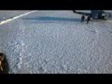 Navy Submarine Rises Through Arctic Ice