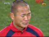 North Korean Soccer Player Cries When Hearing Anthem