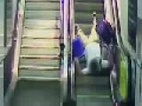 Network Rail Releases Footage Of People Falling Down Escalators