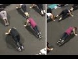 Nutbush Bootcamp Line Dancing Moves While Holding A PLANK
