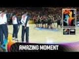 NZ Basketball Tall Blacks Perform Haka Before FIBA World Cup Game VS USA