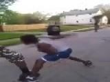 Ninja In Da Hood Gets A Beat Down