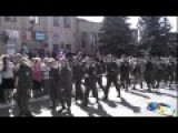 NovoRossiya Army Has A Parade In Perevalsk - Part 1