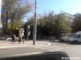 National Guard Vehicle Mysterously Overturned In Mariupol Amusing Locals