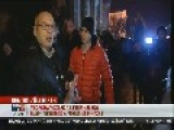 News Staff Attacked On Live Television - Hungarians Protest Against Internet Tax