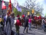 Native Americans And Ranchers March, Ride Horses Against Keystone XL