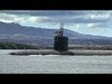Nuclear Powered Sub Leaving Pearl Harbor - Hawaii
