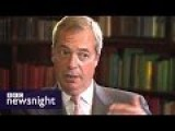 Nigel Farage On Migrants, EU And The Syria Crisis - Newsnight