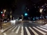 Night Bike Run Around The City Of Sao Paulo