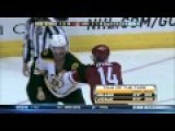 Nasty Hockey Scrap - Huge Punch Injures Player