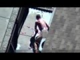 NAKED ROBBER GETS SHOT BY POLICE = In Da Butt =