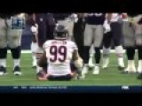 NFL Player Injures Self Celebrating Sack While Getting Blown