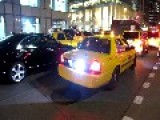 NYPD Police Taxi Responding Lights & Siren