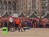 Netherlands: See THOUSANDS Storm The Hague Beach For First Dip Of 2015