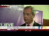 Nigel Farage On Last Day Of Leave-EU Campaigning