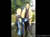 Nasty Fight Between A Handicapped Man And A Kid