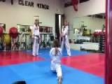 Ninja Mom Shows Off Taekwondo Skills