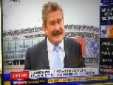 Nick Collins Falls Over Live On Sky Sports!