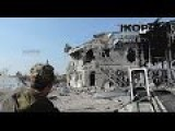 Novorussian Soldier Gives Journalist And Cameraman A Guided Tour Through The Donetsk Airport. 10:00