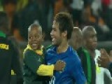 Neymar And Brazil Team Play With Young Boy Who Invades The Field