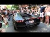 NYPD Honking At Lamborghini Aventador. Volume Warning