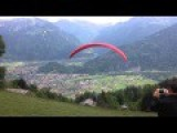Near Death Paraglider Crash