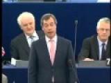 Nigel Farage Blast Gordon Brown In The EU Parliament