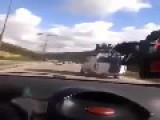 Overloaded Bus Loses Control And Flips Over