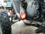 Open Ended Catalytic Converter Glowing Red Hot