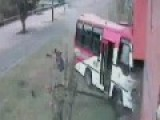 Out Of Control Bus Crashes Into House- Bogota, Colombia