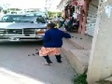Old Mexican Woman Dancing