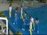 OOPS - Cheerleader Gets Wet