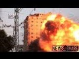 Original Gaza Apartment Building Explodes And Collapses