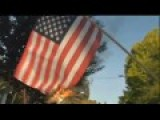 Oakland Communist Leftists Burn American Flag In Front Of City Councilwoman's Home