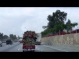 Overloaded Small Truck