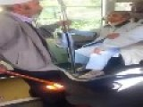 Old Algerian Man Fight With French Okd Women In Bus
