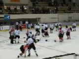 Old-time Fashioned Ice Hockey Brawl: China Vs Japan