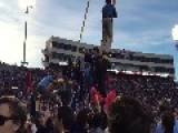 Ole Miss Students Tear Down Goal Post - Ends Up In A Student's Apartment