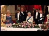 Obama Breaks Royal Protocol By Starting His Toast To The Queen Too Early, Speaking Over The English National Anthem
