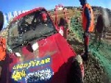 Off-Road Jeep Crashes During Race