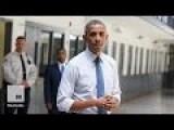 Obama Makes Historic Presidential Visit To Federal Prison
