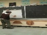 Old-School Teacher Makes Magic Blackboard Graph