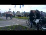 Obama's Cars Drive Through Noordwijk NSS2014