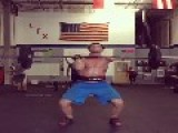 One Armed Man Does Clean Jerk