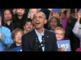 Obama Repeatedly Interrupted At Connecticut Rally For Dan Malloy - Bridgeport Ct D