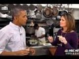 Obama Drinks Beer, Answers Softball Questions In Super Bowl Pre-Interview